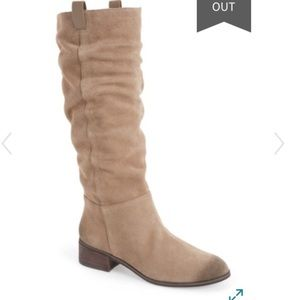 NWOT BP suede leather beige tan slouch boots